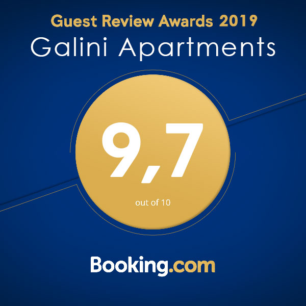 booking.com award galini apartments